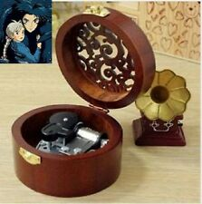 CIRCLE WOOD SILVER WIND UP MUSIC BOX : Merry Go Round of Life