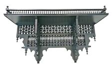 W123-98 Antique Style Handmade Arabian Brown Wall Wood Arabesque Shelf Console