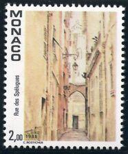 TIMBRE DE MONACO N° 1669 ** VUE DU VIEUX MONACO VILLE / LA RUE DES SPELUGUES