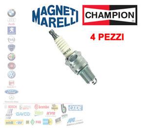 4X CANDELA CHAMPION OE004/T10 FIAT CINQUECENTO 170 PANDA 141 SEICENTO 0.9 RN9YCC