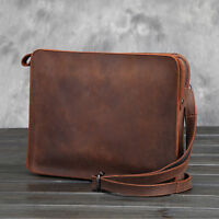 Men's Shoulder Envelope Clutch Bag  Wristlet Wallet Leather Messenger Briefcase