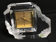 Hoya Mikasa Crystal Clock Lot 3158