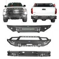 For 14-2021 Toyota Tundra Black Front Bumper OR Rear Bumper w/Led Light & D-ring