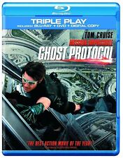 Mission Impossible 4 Ghost Protocol Tom Cruise Triple Play NEW BLURAY ALL REGION
