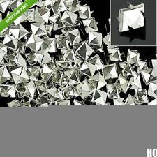 100pcs 4mm Prong Metal Square Pyramid Punk Spike Spots DIY Leathercraft