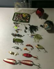 New listing Lot of Fishing Lures, Flies, Poppers, Reels