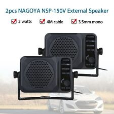 Nagoya 2pcs External Speaker 4m Cable 2 Way Radio For Ham CB Communication Mini