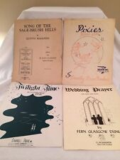 Song Of The Sage-brush Pixies Twilight Time Wedding Prayer 4 Lot Sheet Music