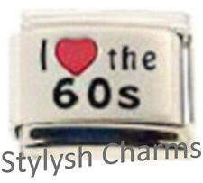 MUSIC THE 60s SIXTIES RH Laser Italian 9mm Charm MD029 Fits Nomination Classic