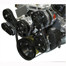 S Drive Pulley Kit Big Block Chevy Black W/Power Steering Eddie Motorsports USA