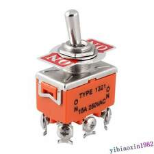 10pcs DPDT 6 Screw Terminals ON/ON 2 Position Toggle Switch AC 250V 15A