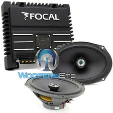 "pkg FOCAL 690CA1 SG 6X9"" 2-WAY COAXIAL SPEAKERS + SOLID-2 2-CHANNEL AMPLIFIER"