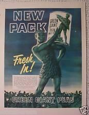 3 Différentiel 50s Vintage Ancien Ads Guilleret Vert Géant Légumes