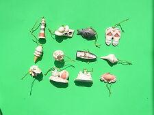 LENOX SUMMER FUN 12 miniature Tree Ornaments set NEW in BOX boat seashell fish