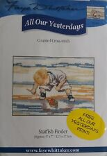 All our Yesterdays Cross Stitch Kit - Starfish Finder - Faye Whittaker Beach