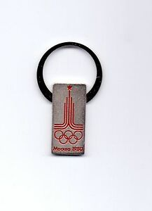 OLYMPIC GAMES MOSCOW 1980 - SOUVENIRE KEY CHAIN - OFFICIAL LOGO