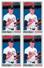 (4) 1992 Baseball Card Monthly #45 Nolan Ryan Baseball Card Lot Texas Rangers