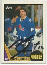 MICHEL GOULET Autographed Signed 1987-88 Topps card Quebec Nordiques COA