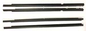 Genuine Mitsubishi DOOR BELT MOLDING SET of 4 Black OUTLANDER 2007 - 2013