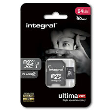 microsd INTEGRAL per GOPRO 3 GOPRO 4 64gb c/10 sdhc sdxc UHS-I 90 mb/s video hd