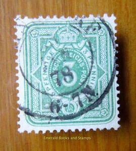 EBS German Empire 1875 3 Pfennig Numeral Ziffer Michel 31 used cv $11.00 2089