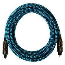 [i!]® 10m Premium Nylon Optisches Toslink Kabel | Digital Hifi Audio LWL | blau