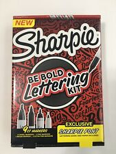 Sharpie Be Bold Hand Lettering Kit, 9 Ct Markers With Exclusive Sharpie Font