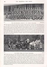 1900 ANTIQUE PRINT-BOER WAR-NCOs OF GORDON HIGHLANDERS, QUEEN'S VISIT