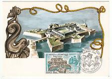 CARTE MAXIMUM FDC 1976 TIMBRE N° 1913 MUSEE DE L ATLANTIQUE PORT LOUIS DUCHESSE