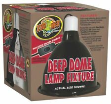 """Zoo Med Lamp Clamp Reptile Deep Dome 8 1/2""""W 9""""H Black"""