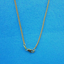 """Wholesale 1PCS 20""""  Fashion Jewelry 18K Gokd Filled Flat Curb Chains Necklaces"""