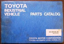 Toyota 6FG28 and 30 Forklift Lift Trucks Dealer Parts Catalog