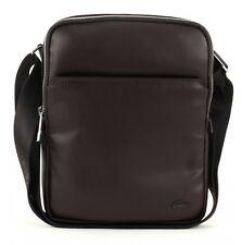 LACOSTE Gael Large Flat Crossover Bag Umhängetasche Braun Chocolate Brown Neu