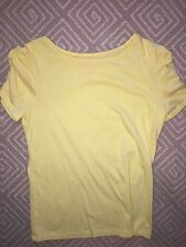 Girl's Lilly Pulitzer Yellow Short Sleeve Top - Girl's XL (12) - EUC