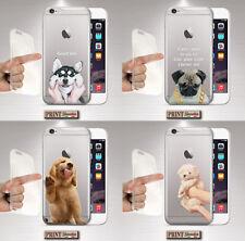Cover per,Iphone,CANE,silicone,morbido,CUCCIOLO,CARINO,TRASPARENTE,DIVERTENTE