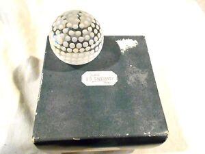 2-J.G. Durand Cristal Balle De Golf Balls -glass-1-Original box-Made in France