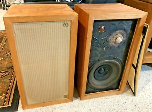 Vintage Acoustic Research AR-3 Pair of Matching Speakers Rare RAW PINE