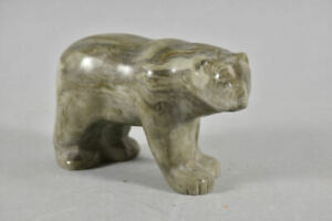 g91d18- Stein Figur Eisbär, Thorn arts of Canada