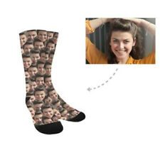 Custom Socks with Faces Personalized Photo on Socks Leg Warmers Gift Unisex