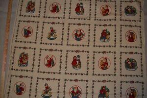 "Cotton fabric panel, quilt blocks, 42"" x 61"" minus one block"