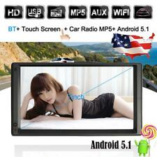"7"" Car GPS Navigation Stereo Radio MP3 MP4 USB 2Din 4 Core Android 5.1 WIFI D6P6"