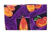 "Orange Purple Pumpkin Web Halloween Vinyl Tablecloth Table Cloth 52"" x 70"" NEW"