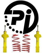 Ford fiesta Mk3 94-95 1.8D 60 mm Pi Kit De Suspensión Bajada Resortes shocks