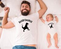Daddysaurus And Babysaurus T-shirt, Gift For Child, Baby Gift, Matching T-shirt
