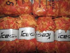 Lana per Lavoro a Maglia & filati 10 x 100g-ICE filato Pom Pom Piuma-arancione, marrone