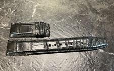 IWC Santoni Black 20.0/18.0- 135.0/55.0 Standard Alligator Leather Strap