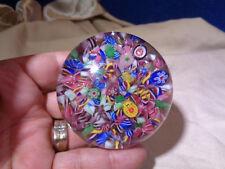 ~*~ESTATE FIND~*~  Vintage Glass Art Glass Paperweight  **MILLEFIORI**  #1