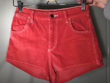 Wrangler Women's Red High Waisted Corduroy / Cord Shorts | Size 8