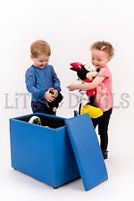BLUE 3-IN-1 TOY BOX, KIDS, SEAT/CHAIR & TABLE - CHILDRENS BEDROOM STORAGE UNIT
