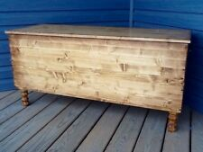 Custom Made Blanket Hope Chest Solid Wood Rustic Vintage Farmhouse Storage Trunk